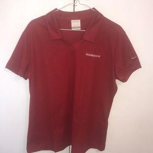 Nike Women's Golf Shirt XLarge Red Nice Polyester